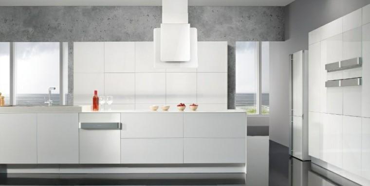 cocina blanca moderna estilo industrial