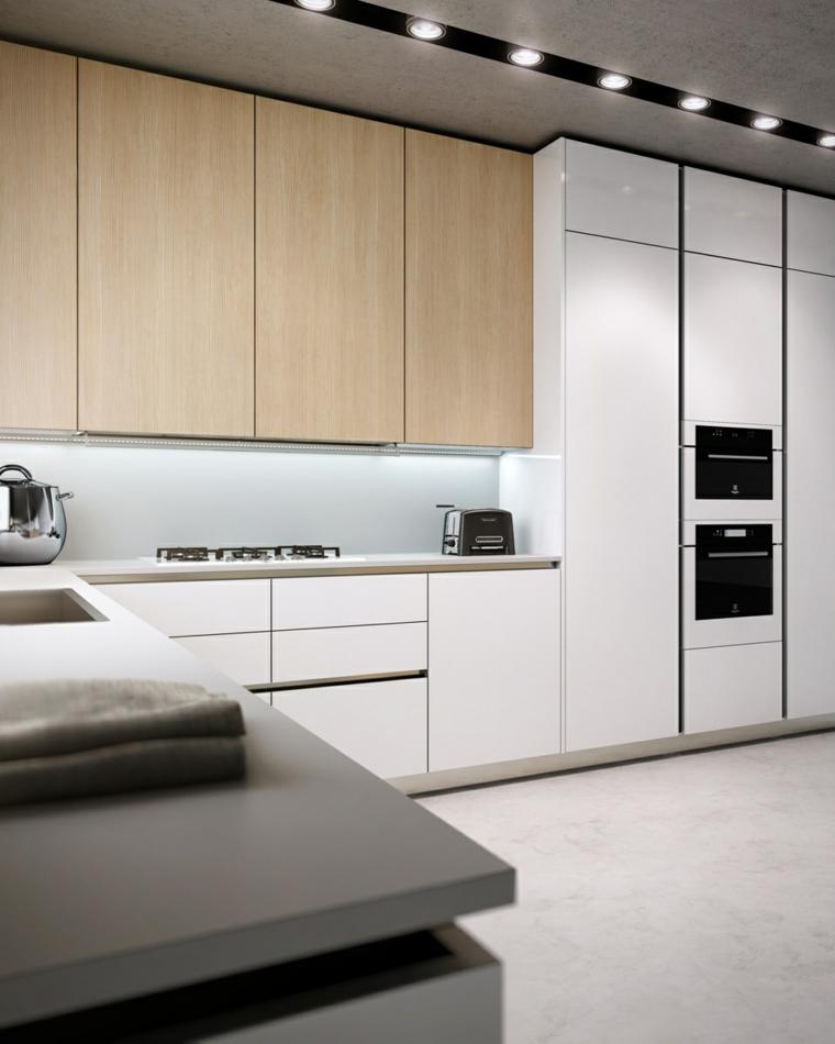 Cocinas blancas de diseño moderno - 50 ejemplos