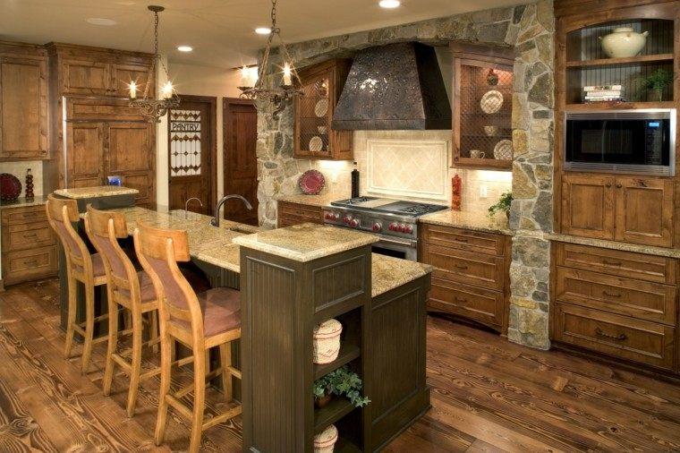 cocina decoracion practica madera lajas