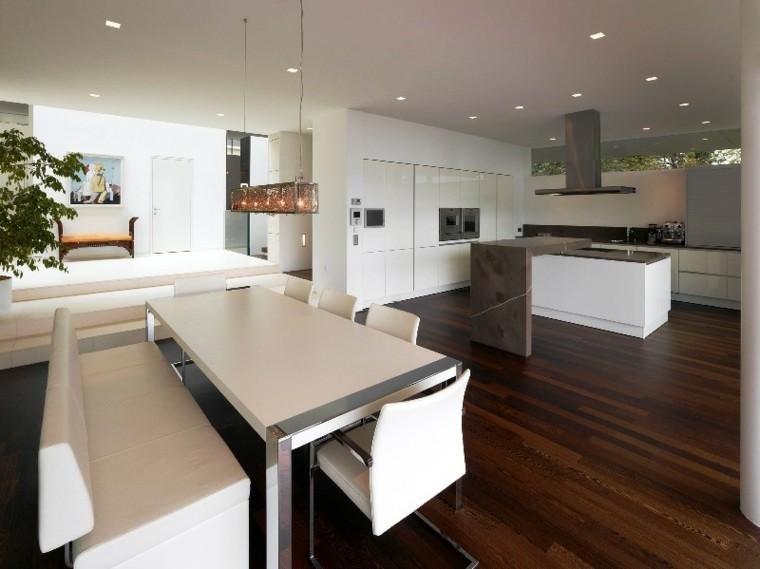 Barras de cocina de dise o moderno 50 ideas for Cocinas comedor con islas modernas