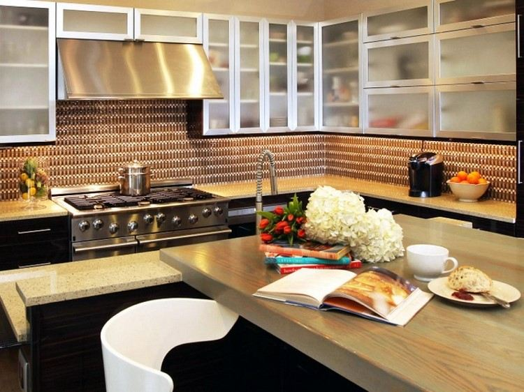 cocina estilo contemporaneo panel pared original ideas