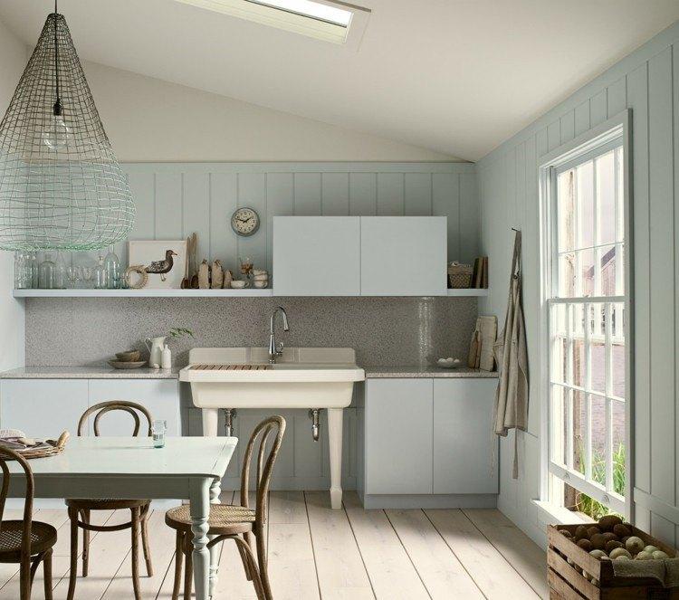 cocina estilo rustico combinado vintage panel marmol ideas