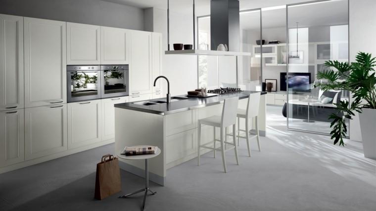 Espacio en blanco m s de 100 ideas para cocinas minimalistas - Cocina minimalista pequena ...
