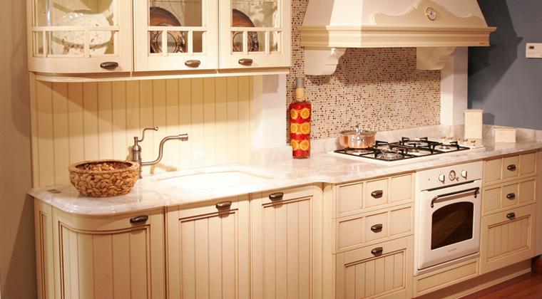 diseño cocina italiana color beige