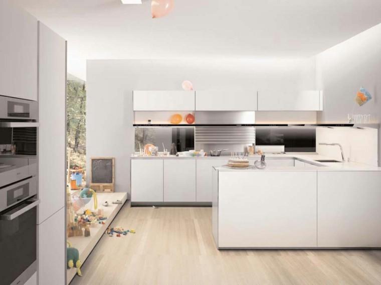 Cocinas Blanco Roto | Cocinas Blancas De Diseno Moderno 50 Ejemplos