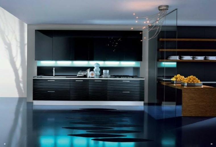 cocina lujosa moderna colores oscuros