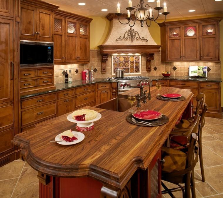 cocina madera diseño estilo clasico