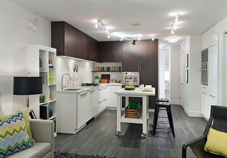 cocina moderna cojines colores