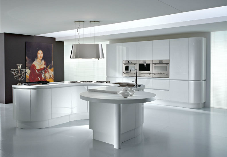 Cocinas modernas con isla 100 ideas impresionantes for Cocinas en u modernas