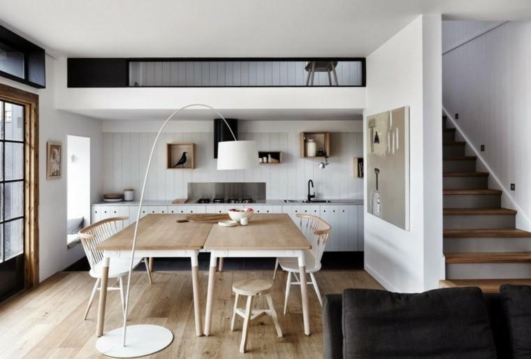 cocina moderna mesa madera