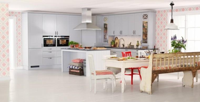 cocina moderna muebles comedor estilo vintage isla