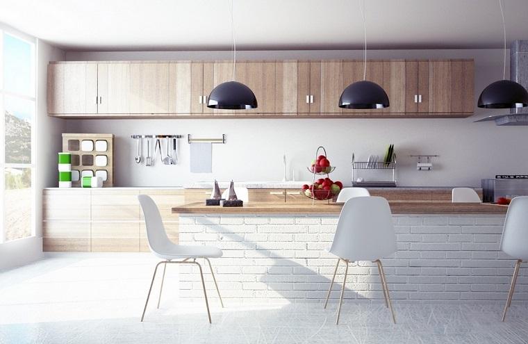 Cocinas modernas con isla 100 ideas impresionantes for Frentes de muebles de cocina
