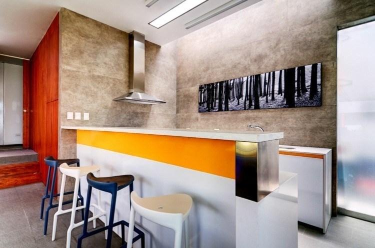 cocina panel losas piedra cuadro decorativo pared ideas