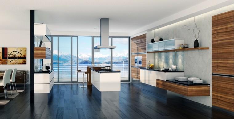 cocina vistas laminado de madera