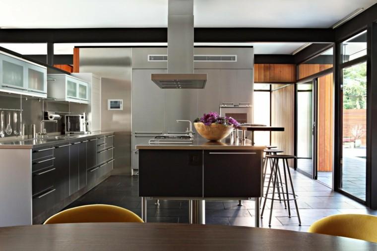 cocina acero estilo moderno