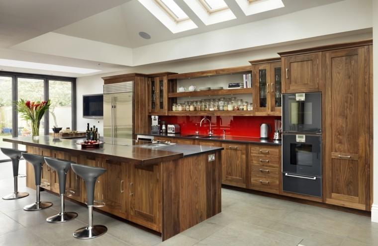 cocina diseño muebles madera laminada