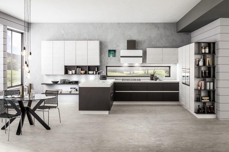 cocinas-blancas-negras-forma-l-diseno-estilo