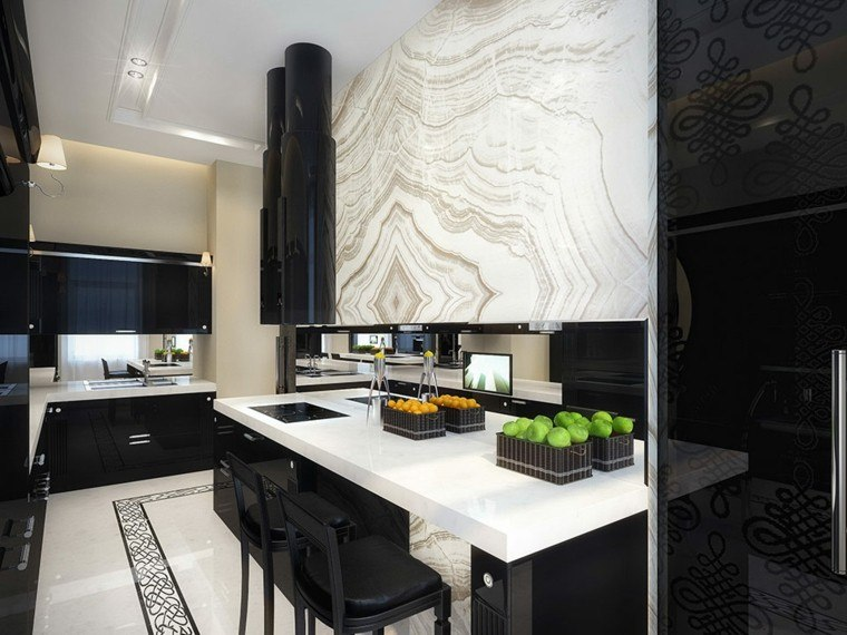 Cocinas blancas y negras 50 ideas geniales a considerar for Todo sobre cocinas integrales