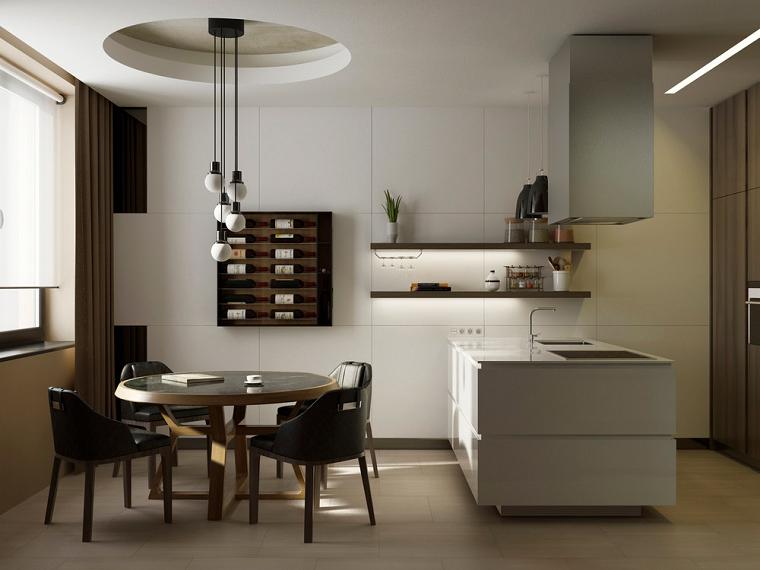 cocinas de diseño moderno color beige ideas