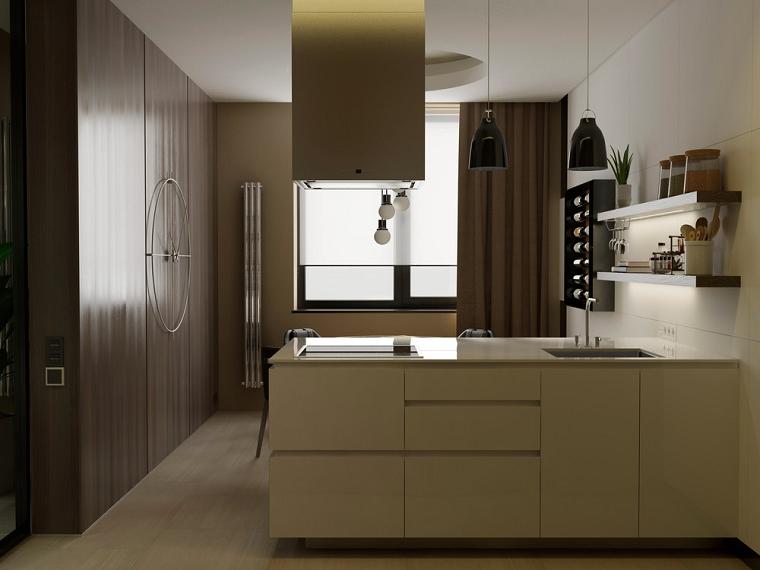 cocinas de diseño moderno muebles color blanco ideas