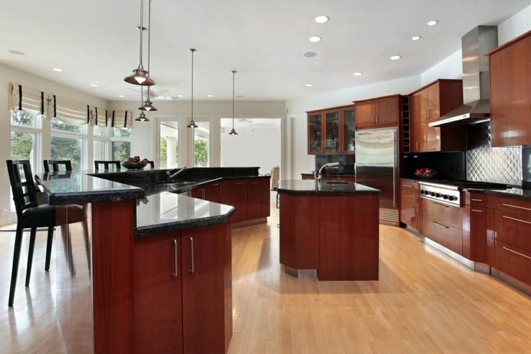 Cocinas modernas con isla 100 ideas impresionantes for Barra de granito para cocina precio