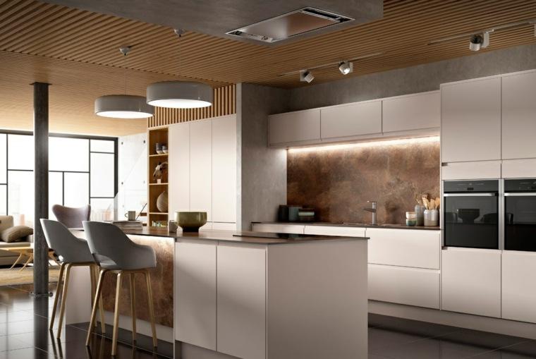 Cocinas modernas con isla 100 ideas impresionantes - Cocinas con diseno ...