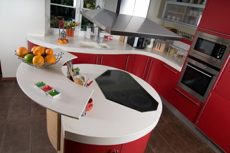 cocinas modernas con isla forma circular original ideas