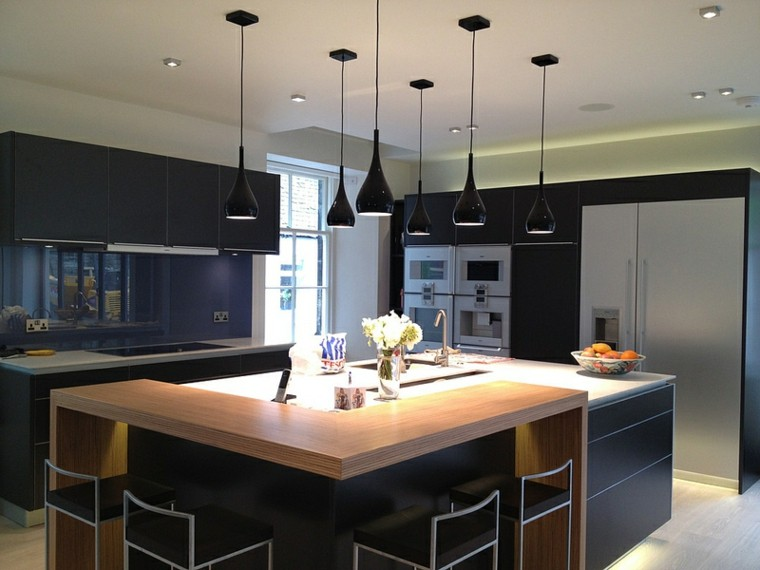 Cocinas modernas con isla 100 ideas impresionantes for Square kitchen designs with island