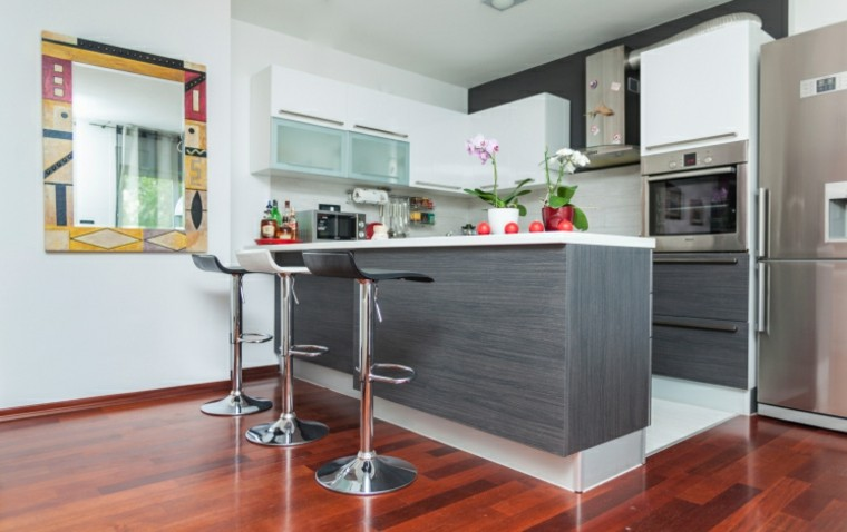 Cocinas modernas con isla 100 ideas impresionantes for Cocinas modernas apartamentos