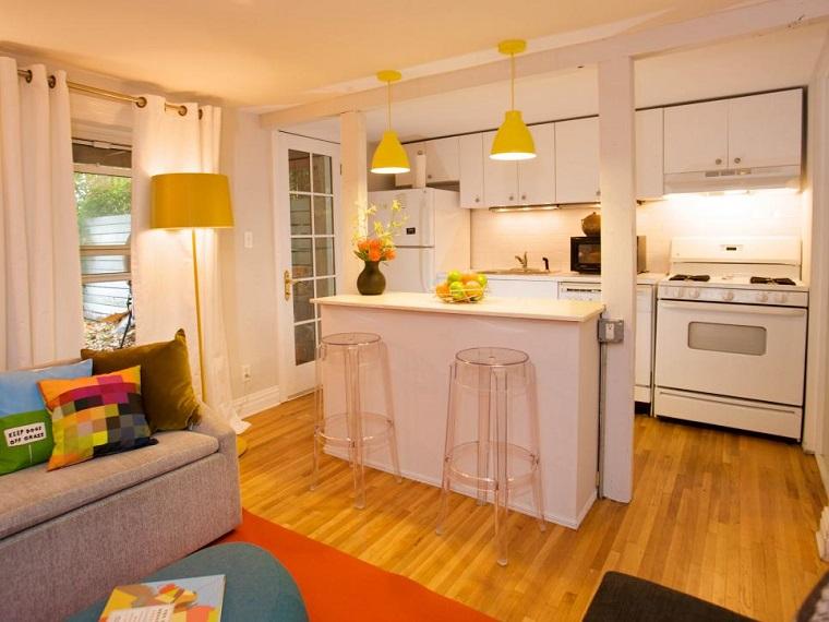 cocinas-pequenas-modernas-abiertas-salon-isla Blog