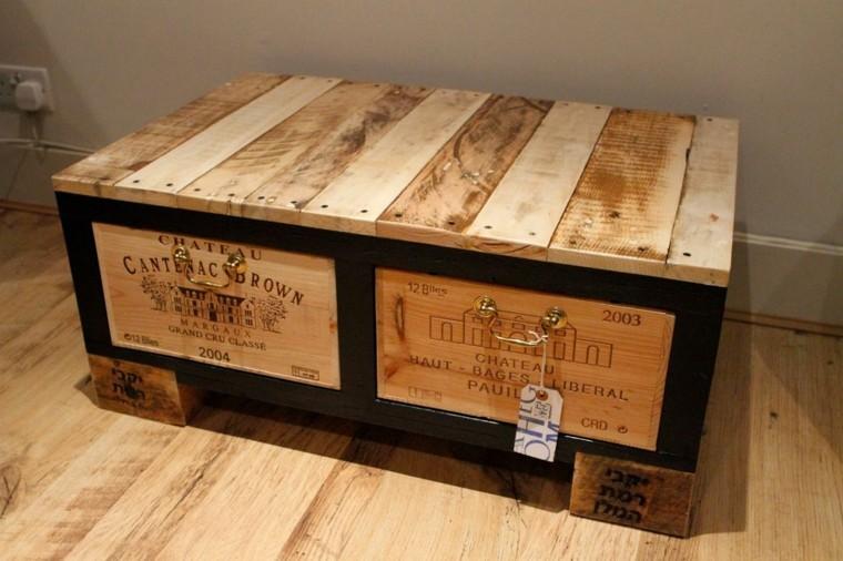 cofre baul cajas madera vino