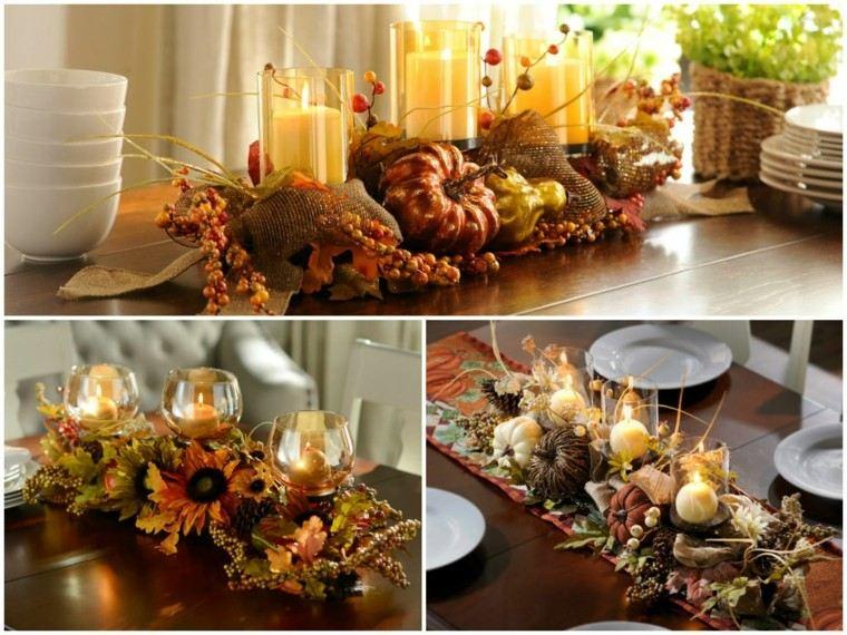 collage decoraciones paisajes de otoño