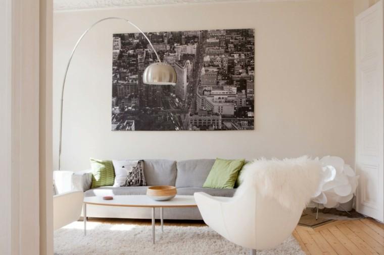 Color blanco para muebles y paredes en el sal n - Colores en paredes ...
