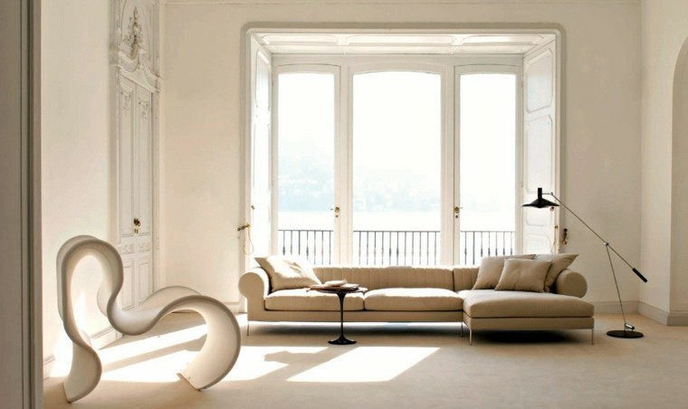 color blanco salon moderno sillon diseno original ideas