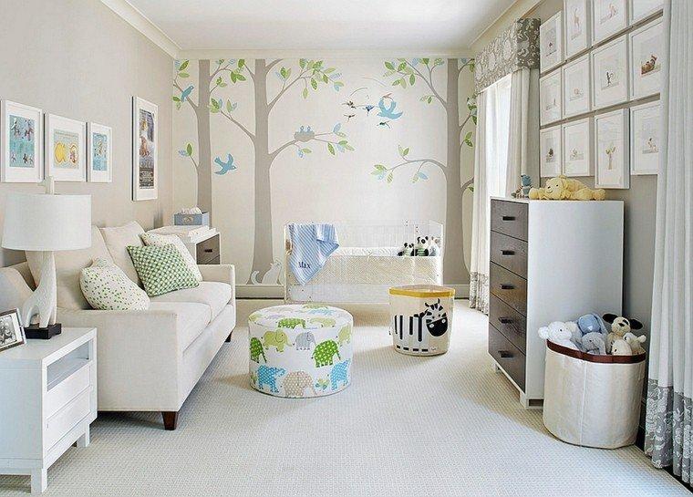 color diseño arbol pajaros bosque