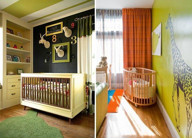 color diseño camas niños jirafa