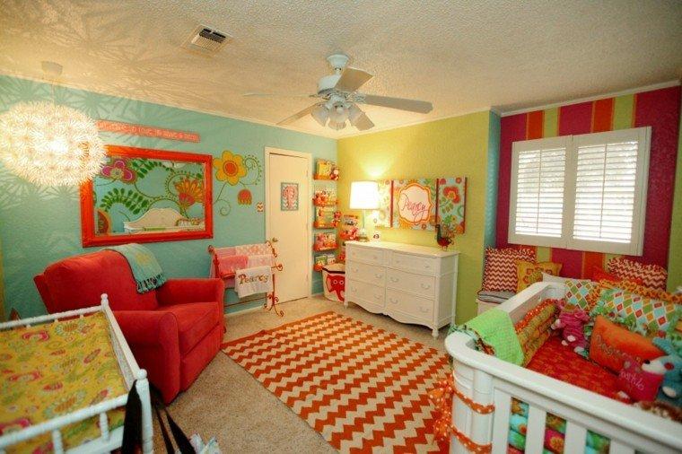 color diseño luminarias paredes colorido