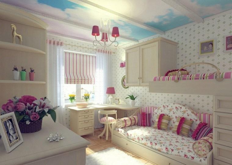 color rosa decorar habitaciones nina cama ideas - Habitaciones Nias