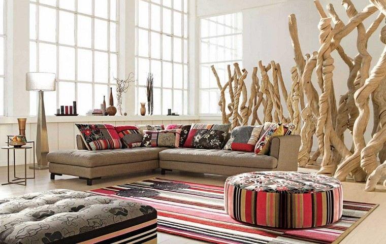 Colores calidos para el sal n 50 ideas impresionantes - Cojines de salon ...