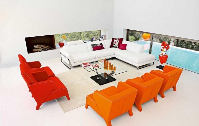 Colores calidos para el salón 50 ideas impresionantes -