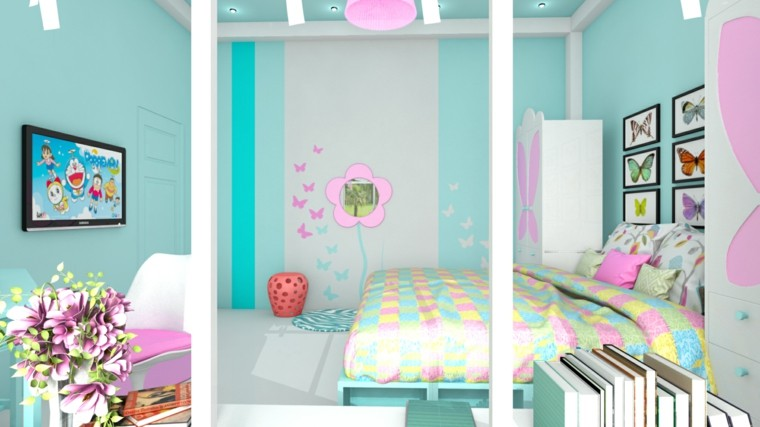 Habitacion juvenil chica dise os llenos de color for Bedroom ideas for 20 year old male