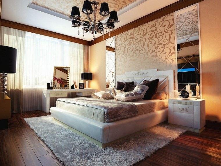 colores crema espejos grandes originales pared dormitorio ideas