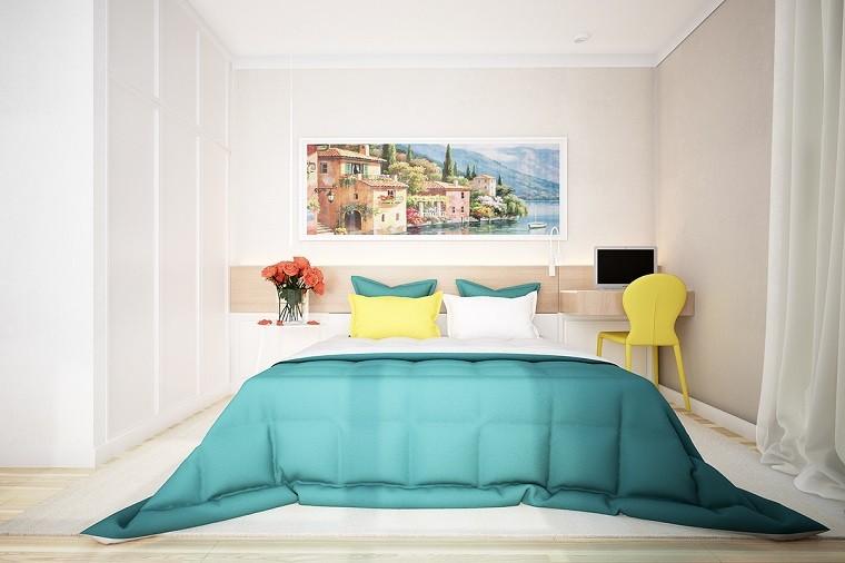 colores vibrantes cuadro precioso dormitorio ideas