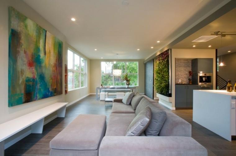 colorido asientos calido cuadro sofa