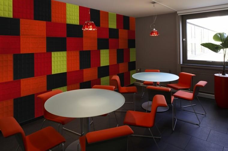 colorido atractivo rojo amarillo mesas
