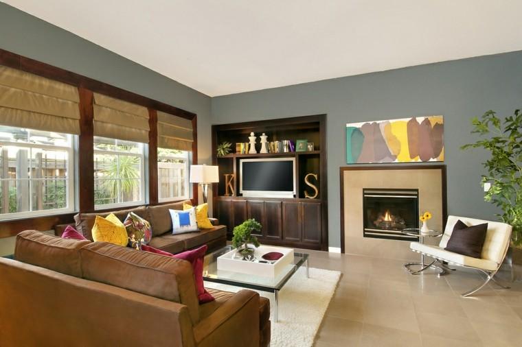 colorido estilo cuadros plantas televisor