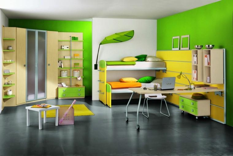 colorido verde infantil armario dinamico