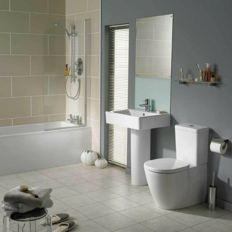 Dise o de ba os en color gris 50 ideas inspiradoras - Combinacion de azulejos para banos ...