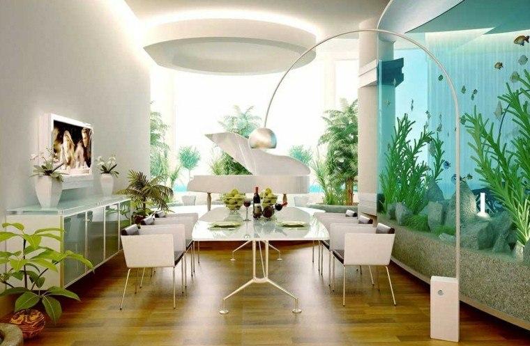 comedor estanque elegante vitrina led