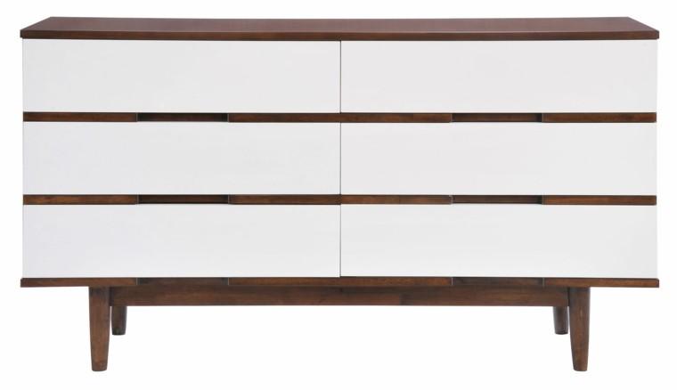 comoda color blanco madera moderna